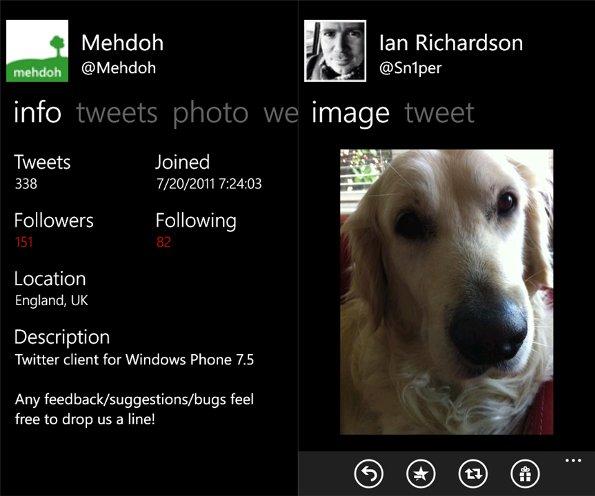 Mehdoh: an alternative Twitter client for Windows Phone 7